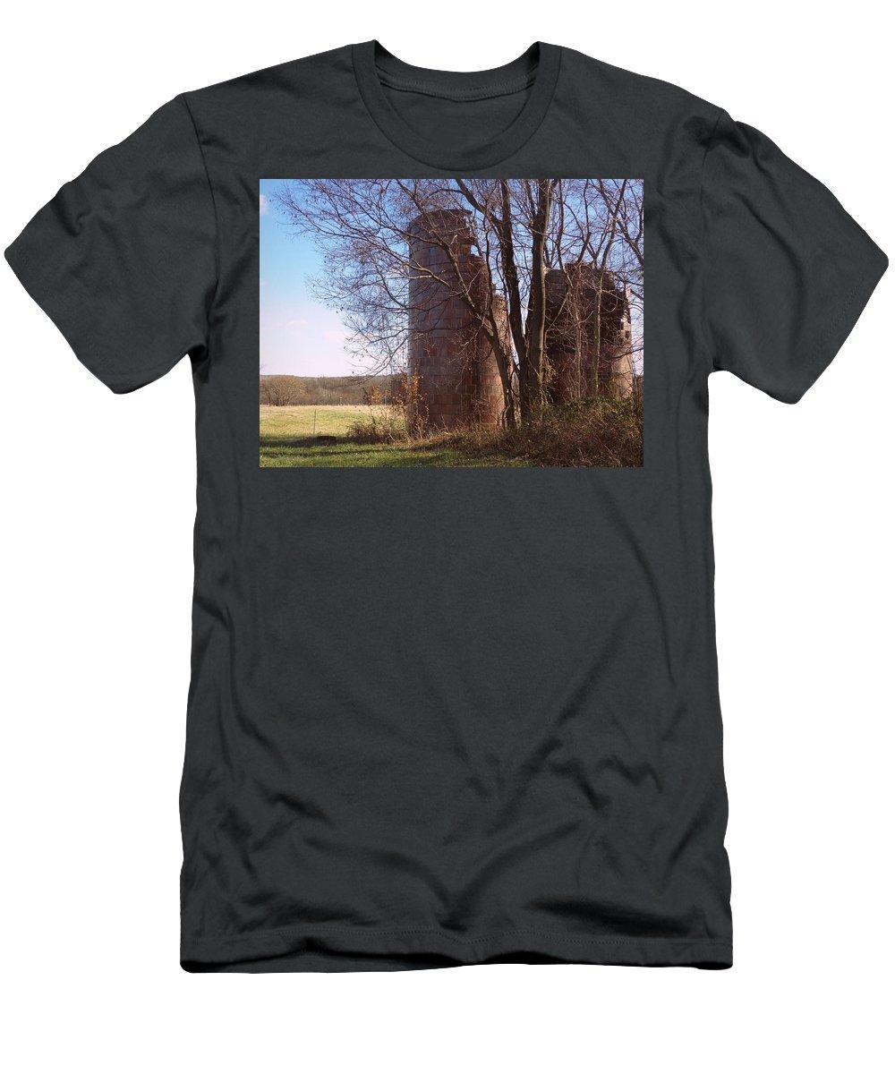 Joseph Skompski Men's T-Shirt (Athletic Fit) featuring the photograph Silos by Joseph Skompski