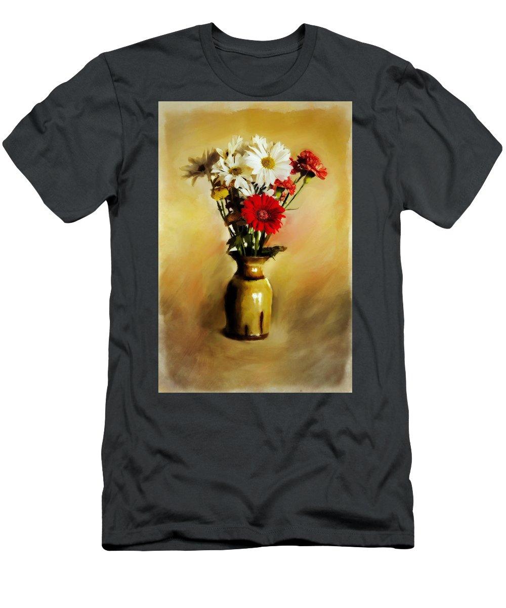 Flower Men's T-Shirt (Athletic Fit) featuring the digital art Simple Bouquet by Diane Dugas