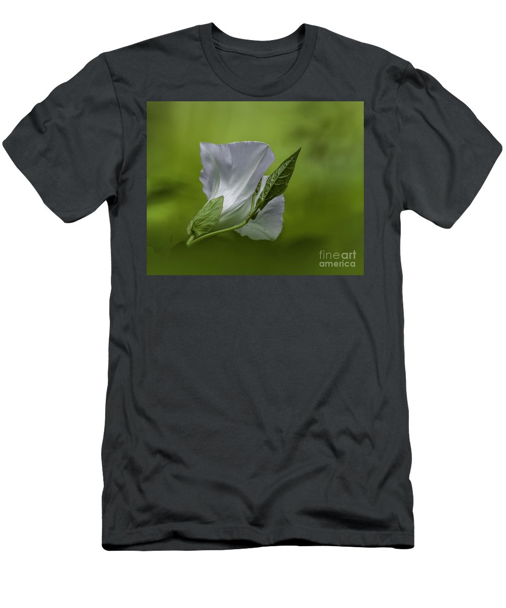 White Men's T-Shirt (Athletic Fit) featuring the photograph Simple by Ronald Grogan