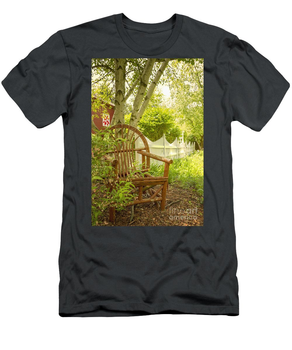 Chair Men's T-Shirt (Athletic Fit) featuring the photograph Sit For A While by Margie Hurwich