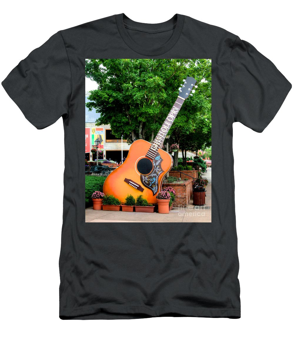 Oprey Men's T-Shirt (Athletic Fit) featuring the photograph Six String by Robert Pearson