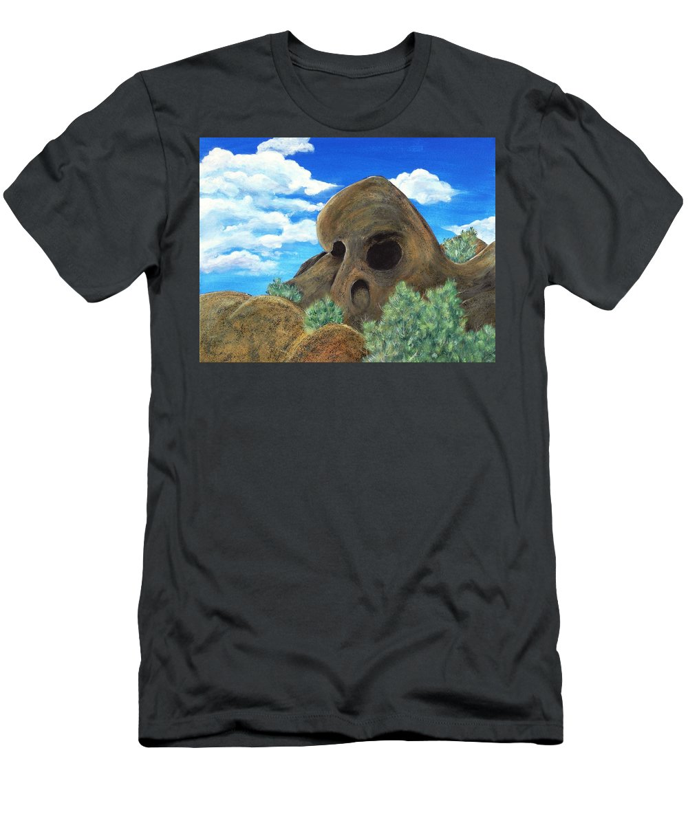 Malakhova Men's T-Shirt (Athletic Fit) featuring the painting Skull Rock by Anastasiya Malakhova