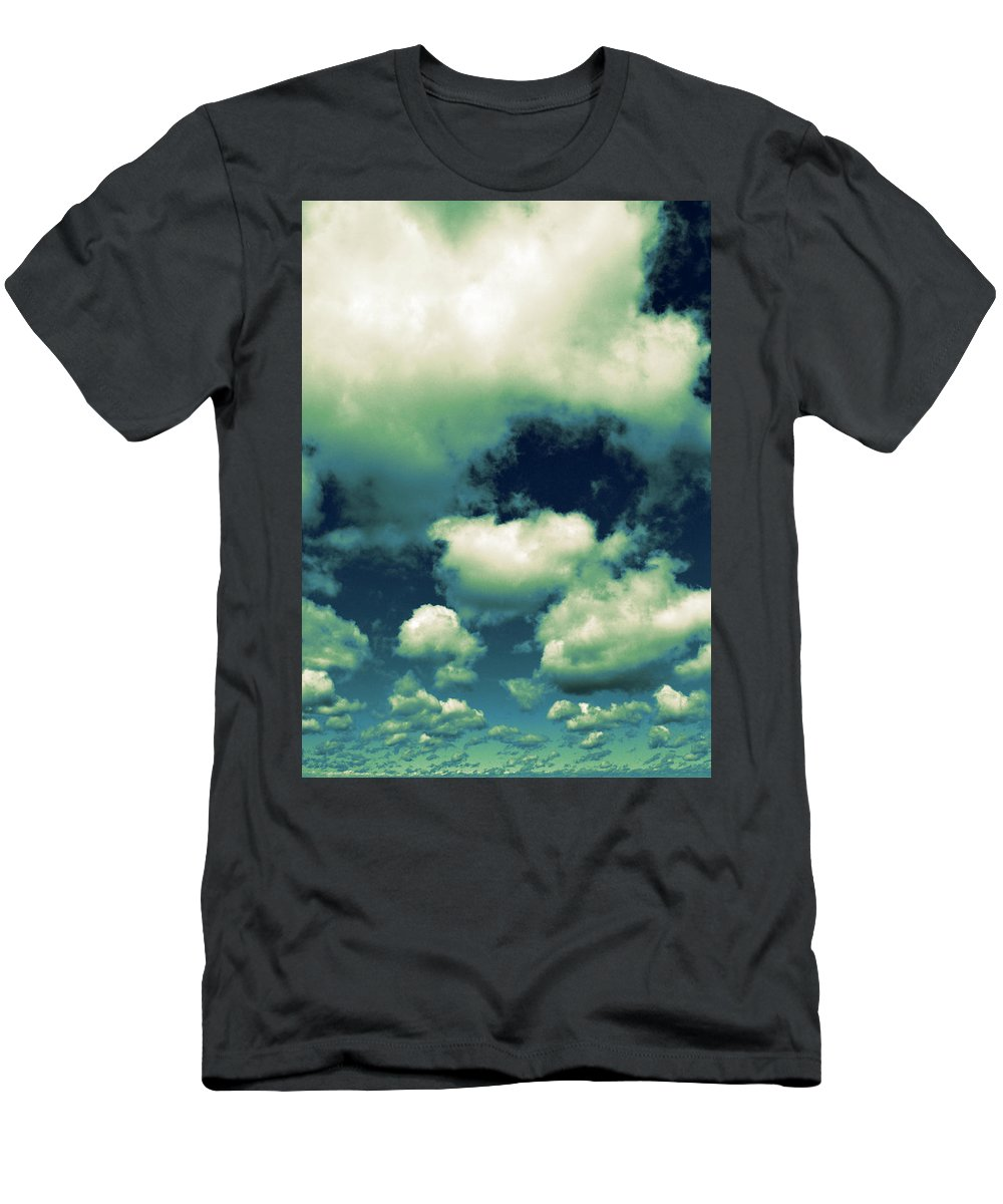 Blue Men's T-Shirt (Athletic Fit) featuring the photograph Sky by Michelle Calkins
