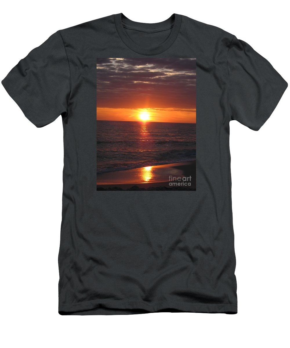 Sunset Men's T-Shirt (Athletic Fit) featuring the photograph Sky On Fire I by Christiane Schulze Art And Photography