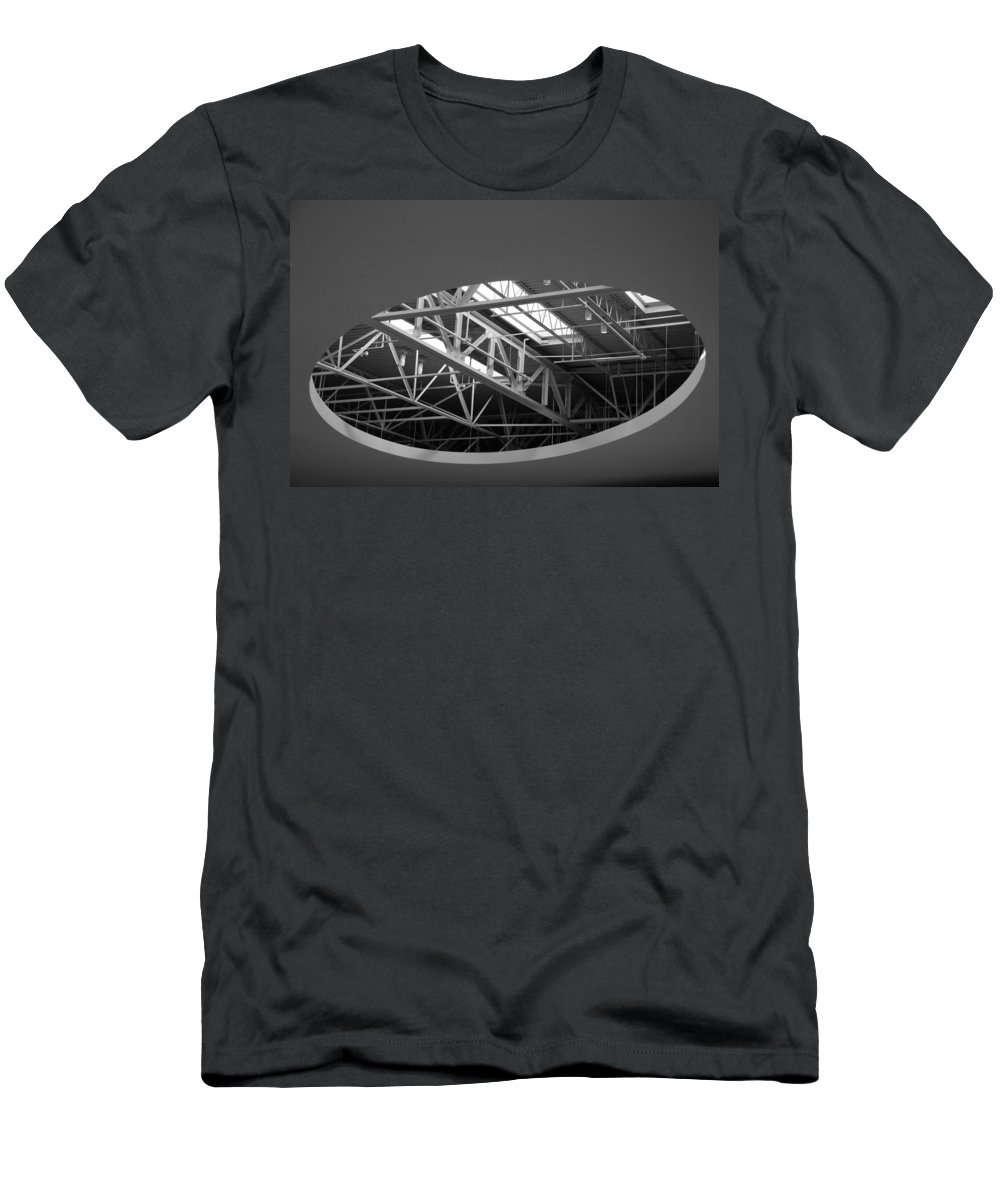 Architecture Men's T-Shirt (Athletic Fit) featuring the photograph Skylight Gurders In Black And White by Rob Hans