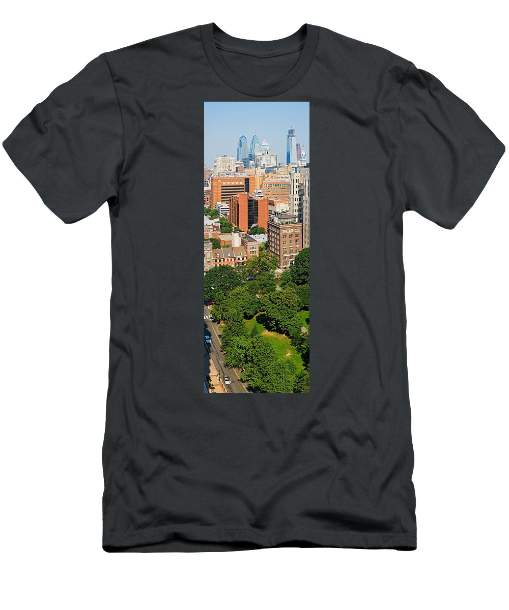 Photography Men's T-Shirt (Athletic Fit) featuring the photograph Skyscrapers In A City, Washington by Panoramic Images
