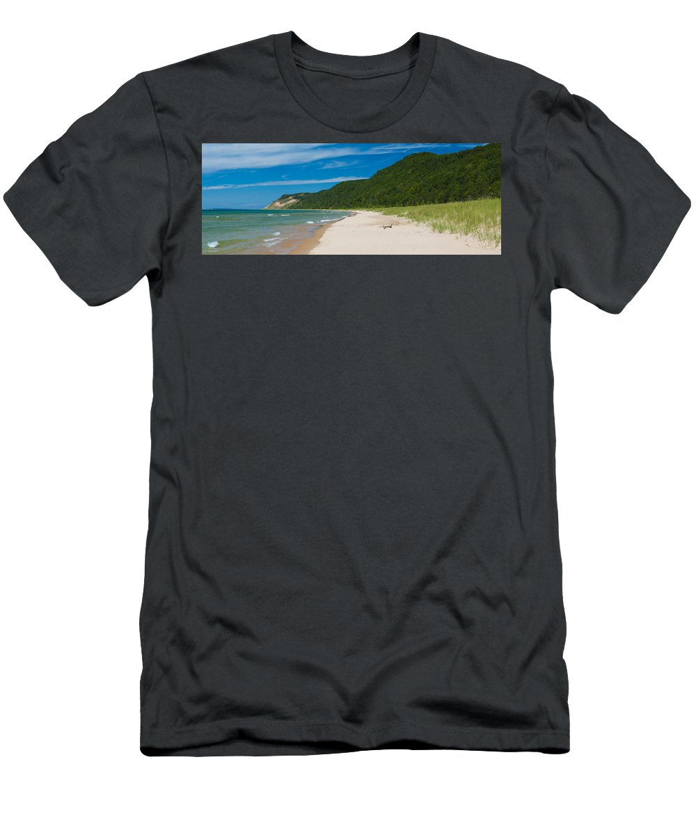 Clouds Men's T-Shirt (Athletic Fit) featuring the photograph Sleeping Bear Dunes National Lakeshore by Sebastian Musial