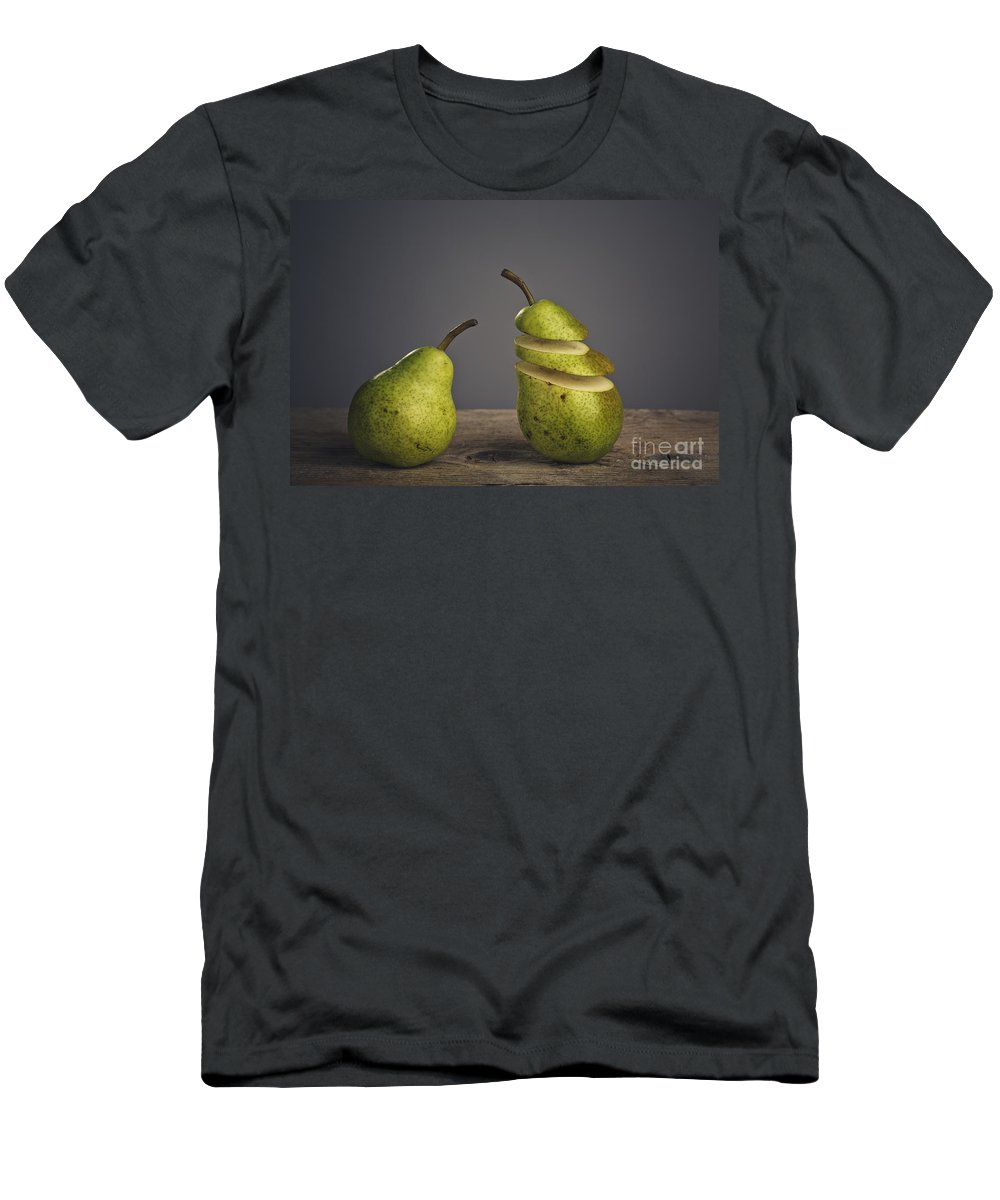 Pear Men's T-Shirt (Athletic Fit) featuring the photograph Sliced by Nailia Schwarz