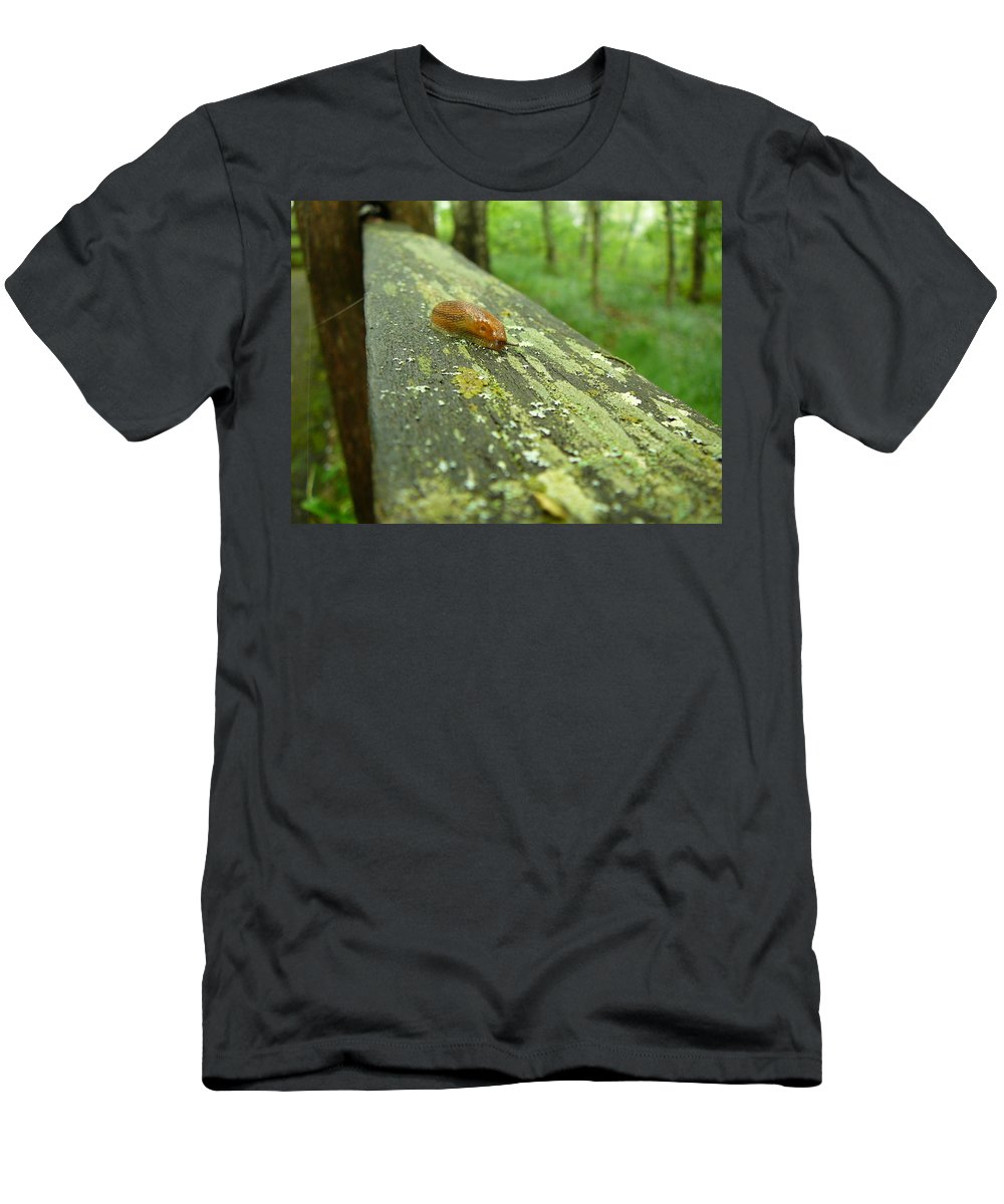 Upper Peninsula Men's T-Shirt (Athletic Fit) featuring the photograph Slug Life by Two Bridges North