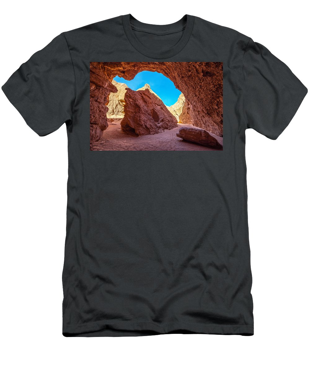 Atacama Men's T-Shirt (Athletic Fit) featuring the photograph Small Canyon In Chile by Jess Kraft