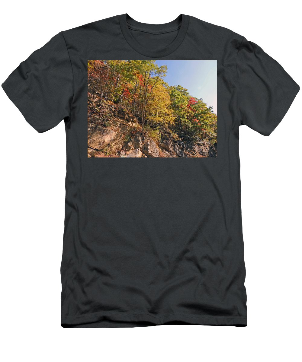 Photograph Men's T-Shirt (Athletic Fit) featuring the photograph Smoky Mountain Autumn by Marian Bell