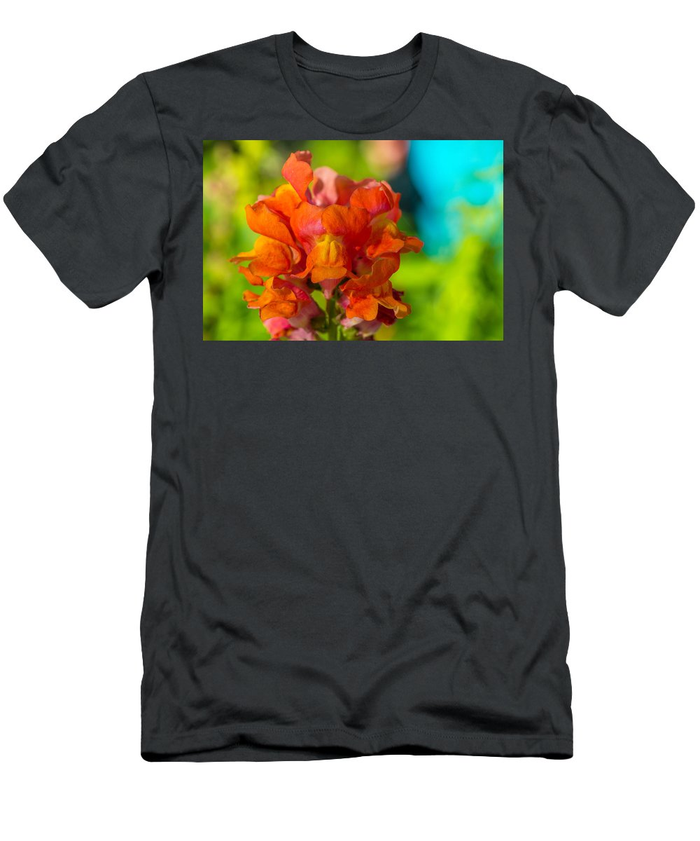 Snapdragon Men's T-Shirt (Athletic Fit) featuring the photograph Snapdragon Flower Blurred Background by Michael Moriarty