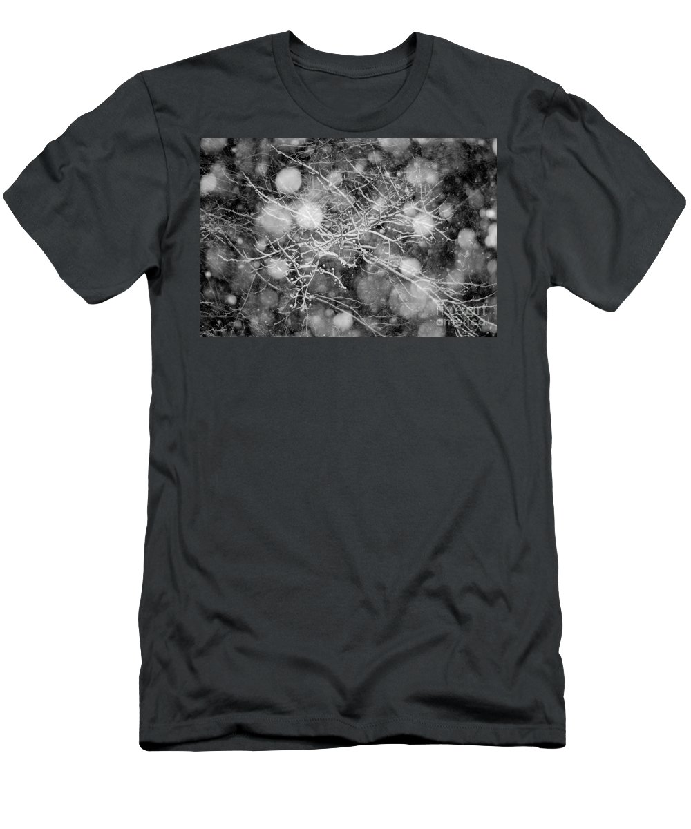 Fractal Men's T-Shirt (Athletic Fit) featuring the photograph Snow by Jt PhotoDesign