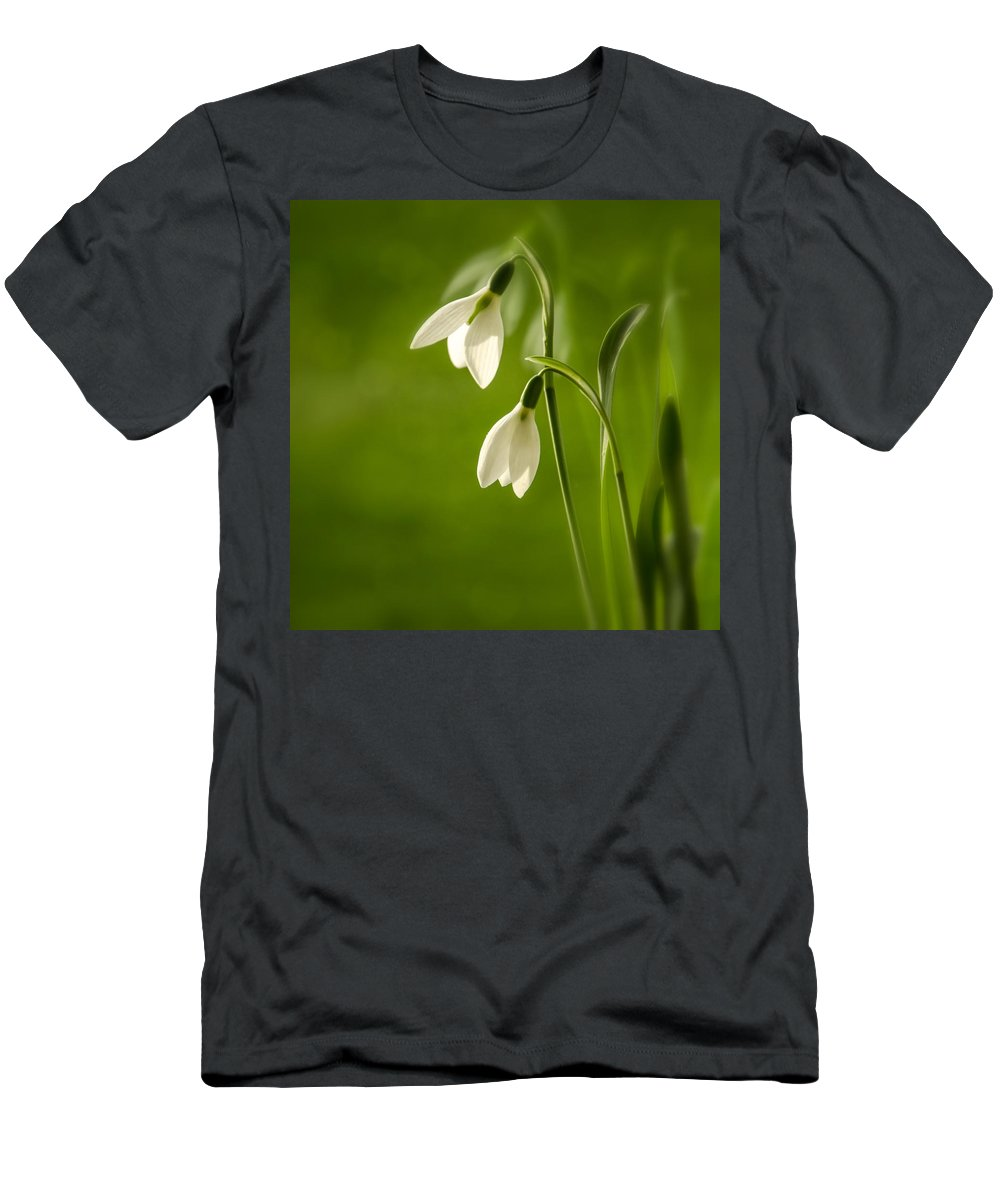 Background Men's T-Shirt (Athletic Fit) featuring the photograph Snowdrop by TouTouke A Y