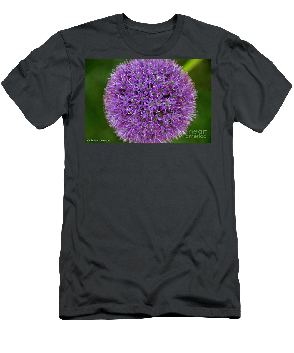 Flower Men's T-Shirt (Athletic Fit) featuring the photograph So Circular by Susan Herber