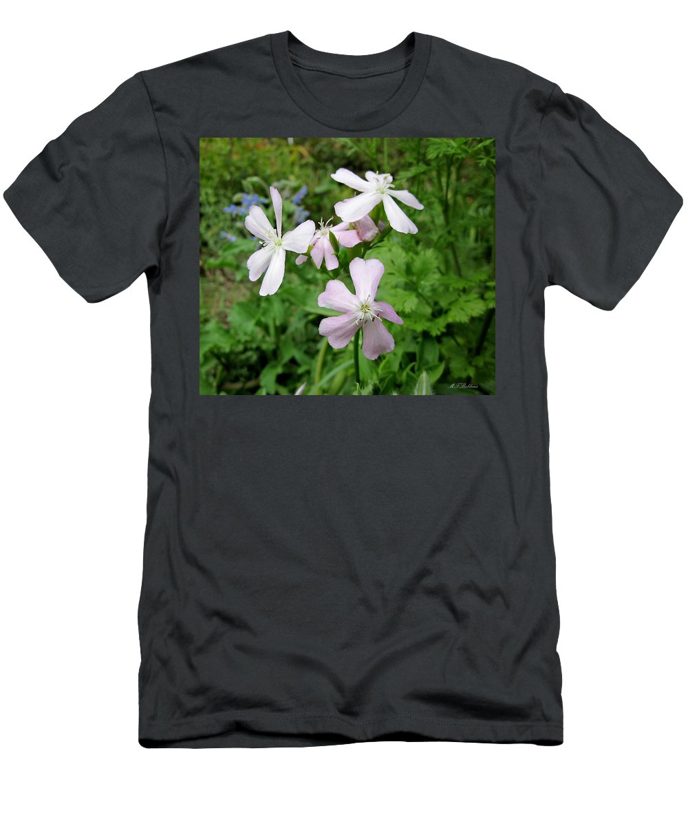 Herb Men's T-Shirt (Athletic Fit) featuring the photograph Soapwort Flowers by MTBobbins Photography