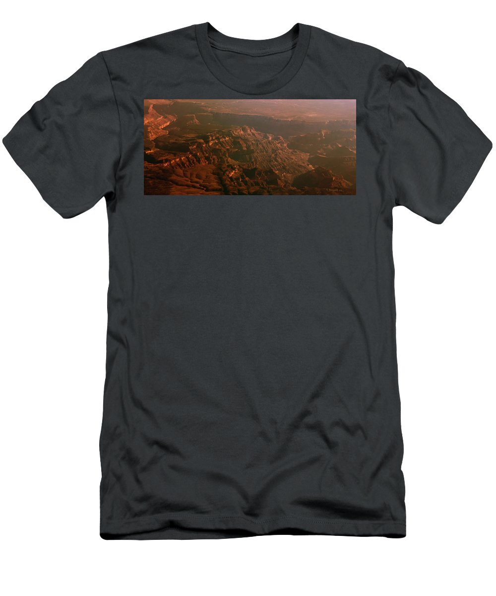 Rocky Men's T-Shirt (Athletic Fit) featuring the photograph Soft Early Morning Light Over The Grand Canyon 3 by Kume Bryant