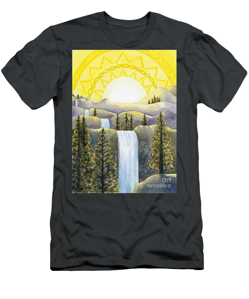 Power Men's T-Shirt (Athletic Fit) featuring the painting Solar Plexus Chakra by Catherine G McElroy