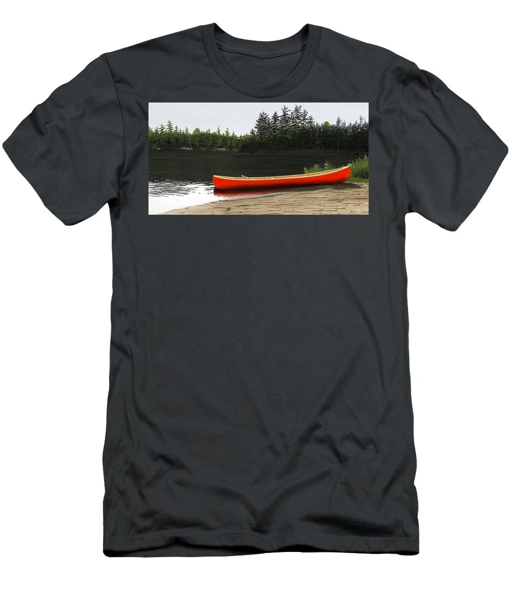 Llandscapes Men's T-Shirt (Athletic Fit) featuring the painting Solemnly by Kenneth M Kirsch