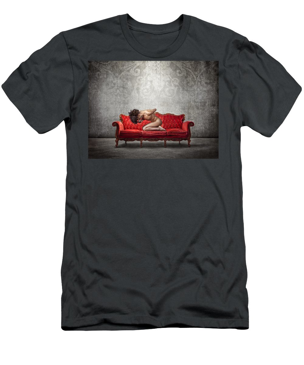 Art Men's T-Shirt (Athletic Fit) featuring the photograph Solitude by Igor Zeiger