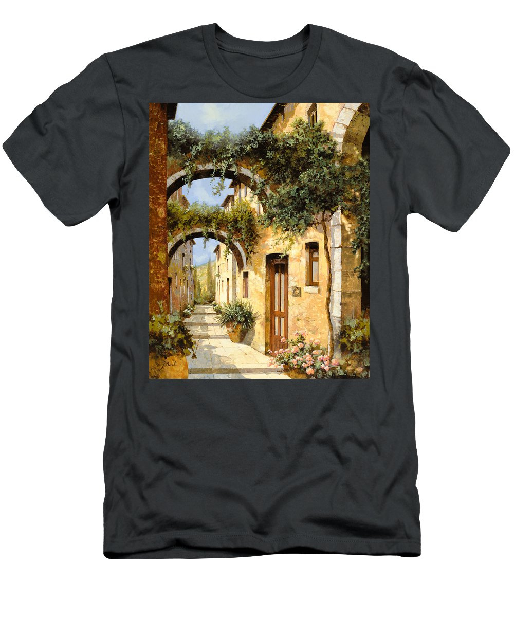 Arch Men's T-Shirt (Athletic Fit) featuring the painting Sotto Gli Archi by Guido Borelli