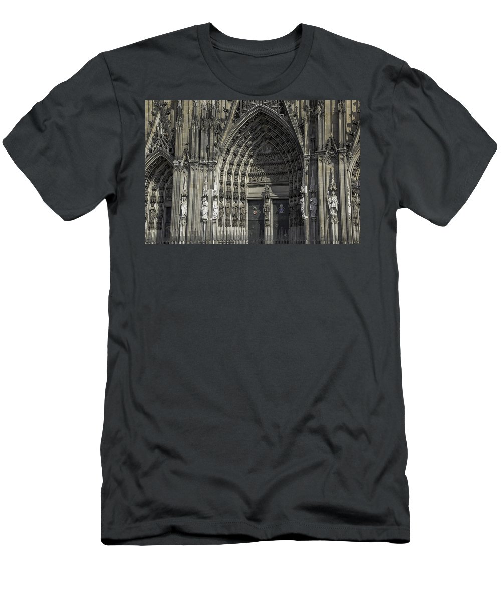 2014 Men's T-Shirt (Athletic Fit) featuring the photograph South Entrance Cologne Cathedral by Teresa Mucha