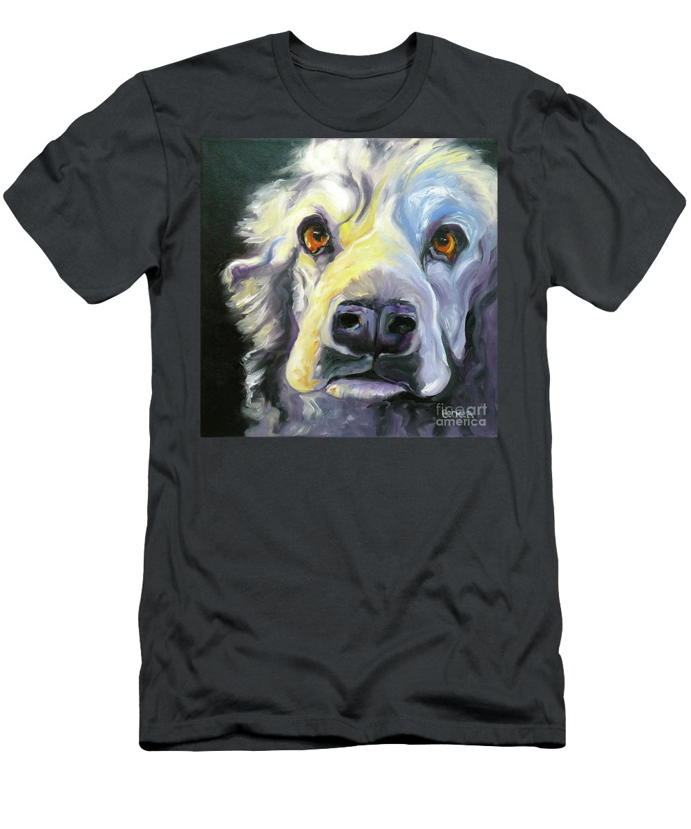 Dogs Men's T-Shirt (Athletic Fit) featuring the painting Spaniel In Thought by Susan A Becker