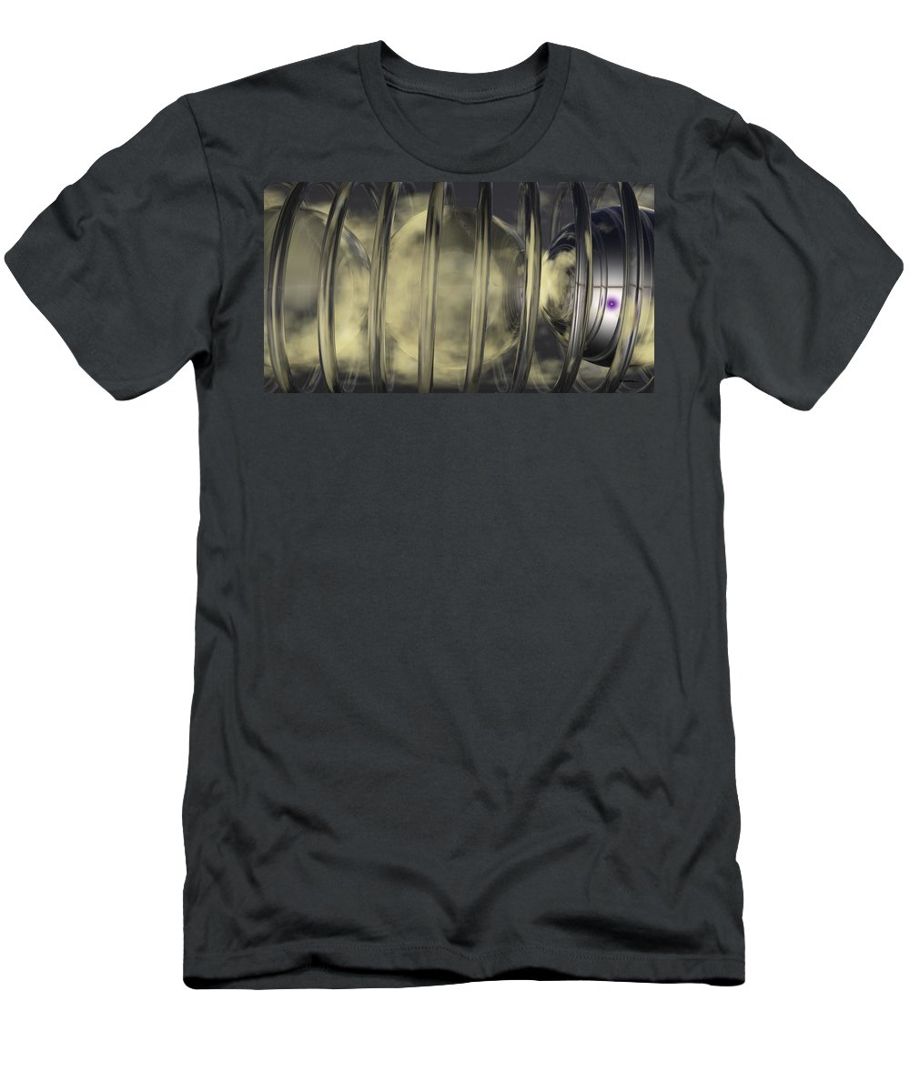 Abstract Men's T-Shirt (Athletic Fit) featuring the digital art Spheres No 7 by James Kramer