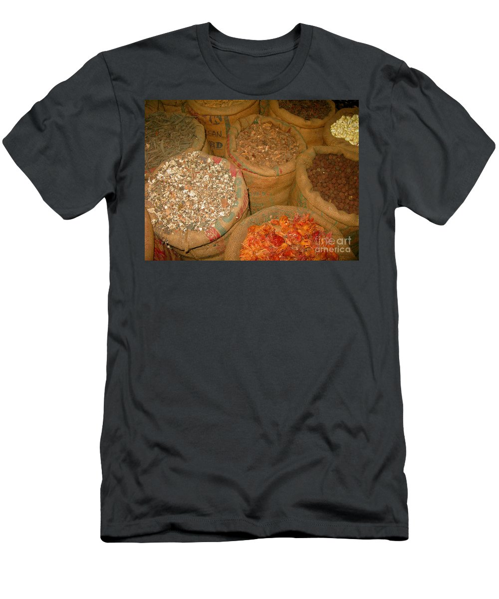 Kerala Men's T-Shirt (Athletic Fit) featuring the photograph Spices From The East by Mini Arora