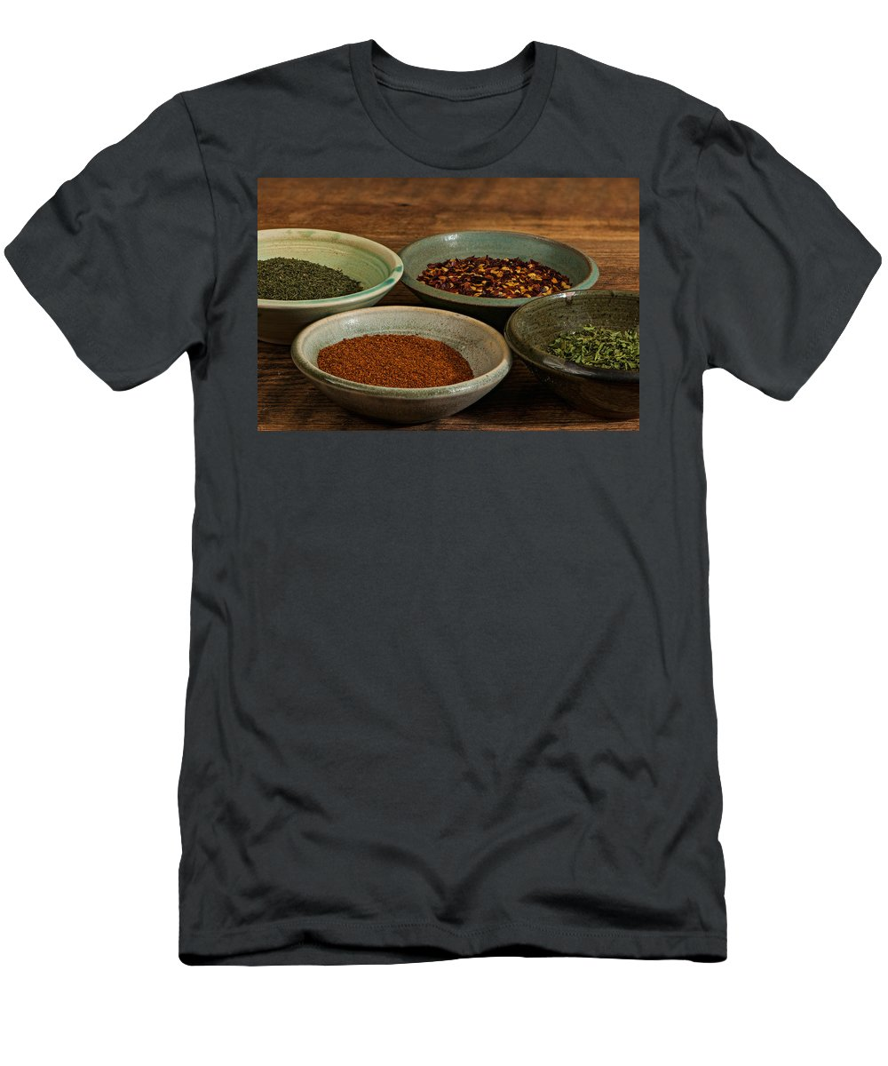 Kitchen Men's T-Shirt (Athletic Fit) featuring the photograph Spices by Randy Walton