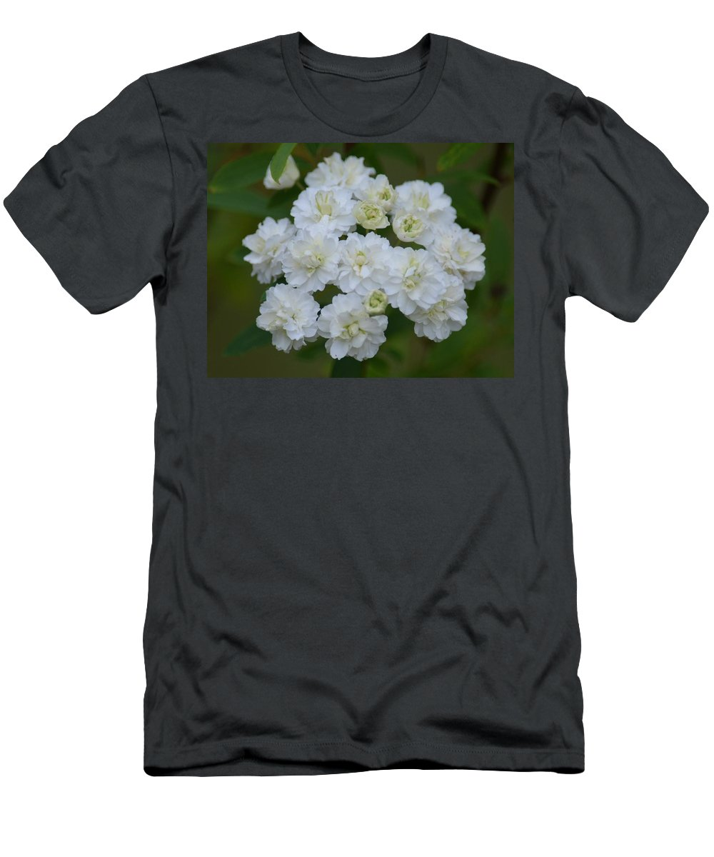 Spirea In Spring Men's T-Shirt (Athletic Fit) featuring the photograph Spirea In Spring by Maria Urso