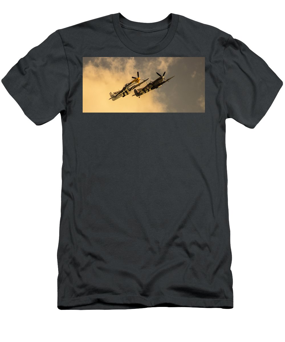 Duxford T-Shirt featuring the photograph Spitfire by Martin Newman
