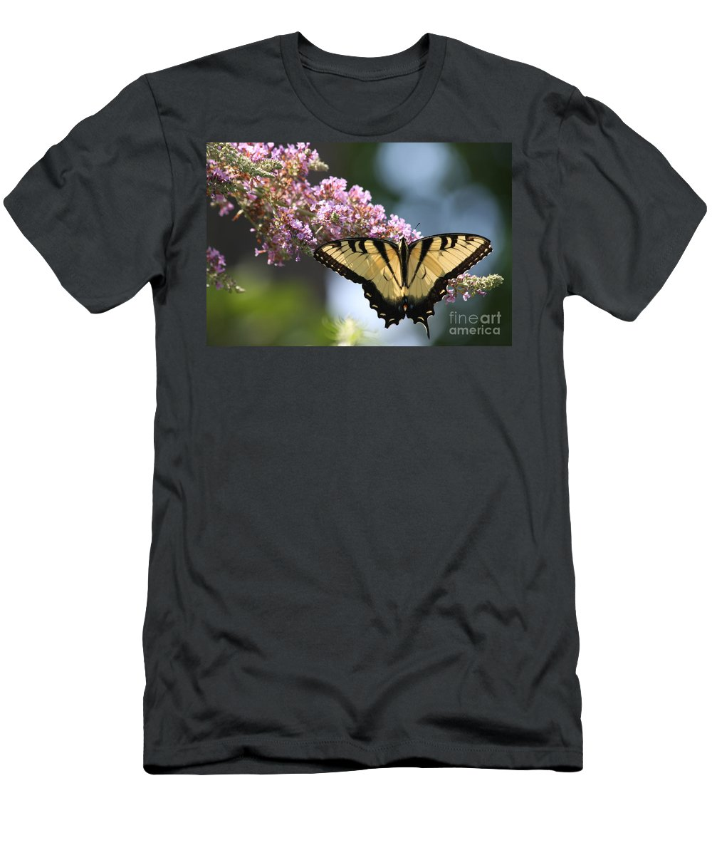 Butterfly Men's T-Shirt (Athletic Fit) featuring the photograph Spreading My Wings by Christina Gupfinger