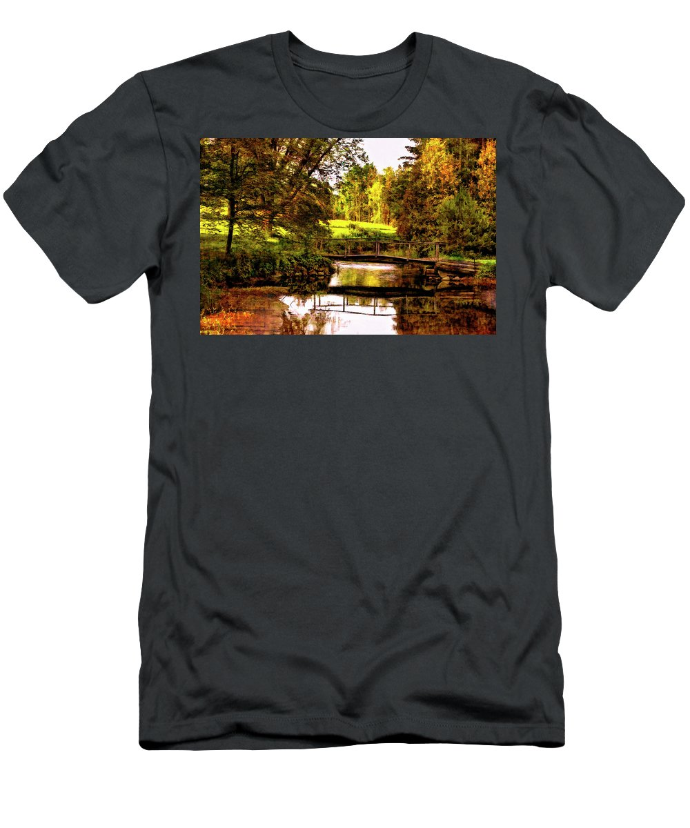 Landscape Men's T-Shirt (Athletic Fit) featuring the photograph Spring Becomes The Summer II by Steve Harrington