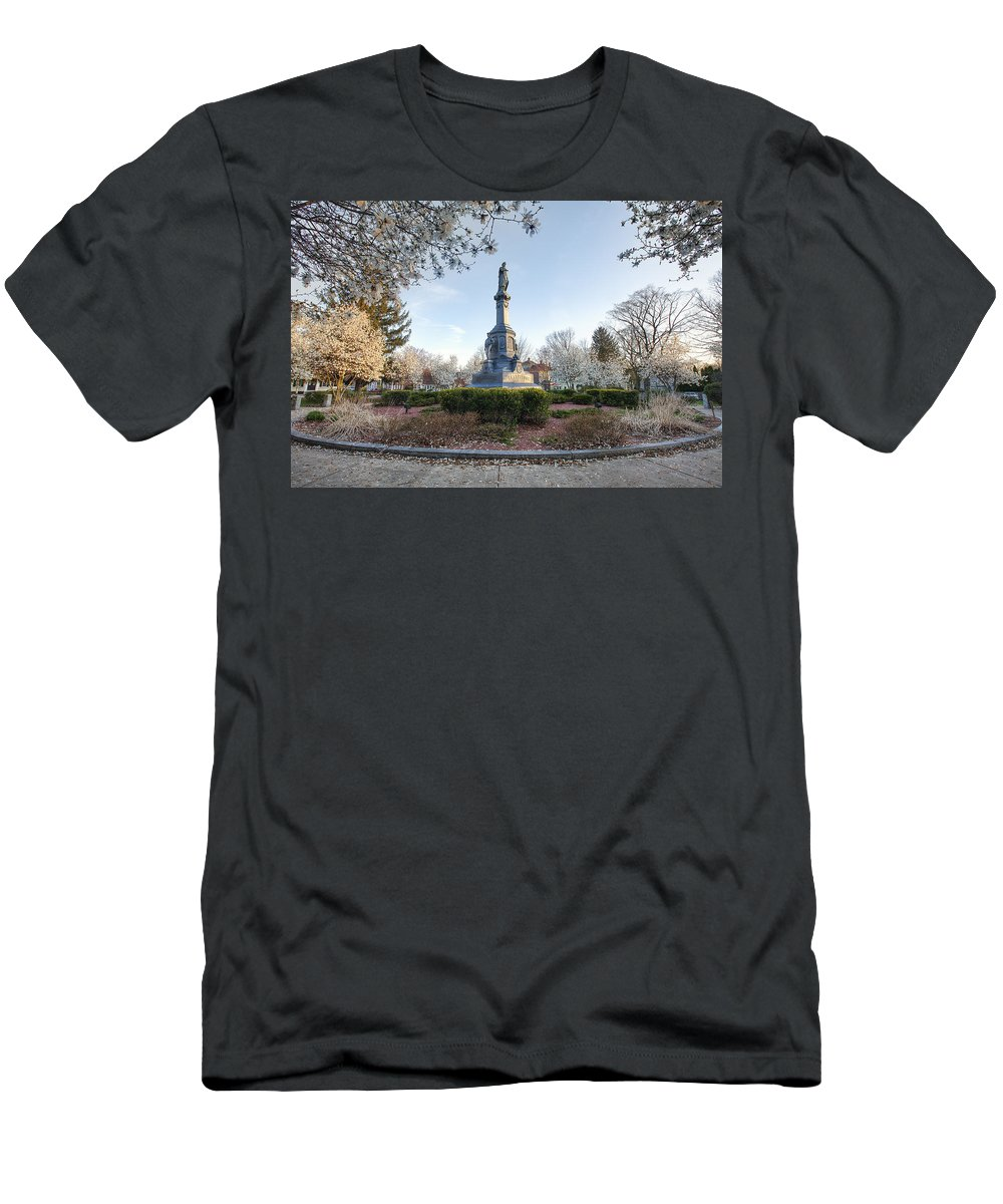 Spring Bloom Men's T-Shirt (Athletic Fit) featuring the photograph Spring Bloom by Eric Gendron