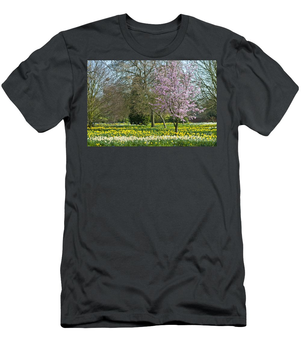 England Men's T-Shirt (Athletic Fit) featuring the photograph Spring Blossoms by Lana Enderle