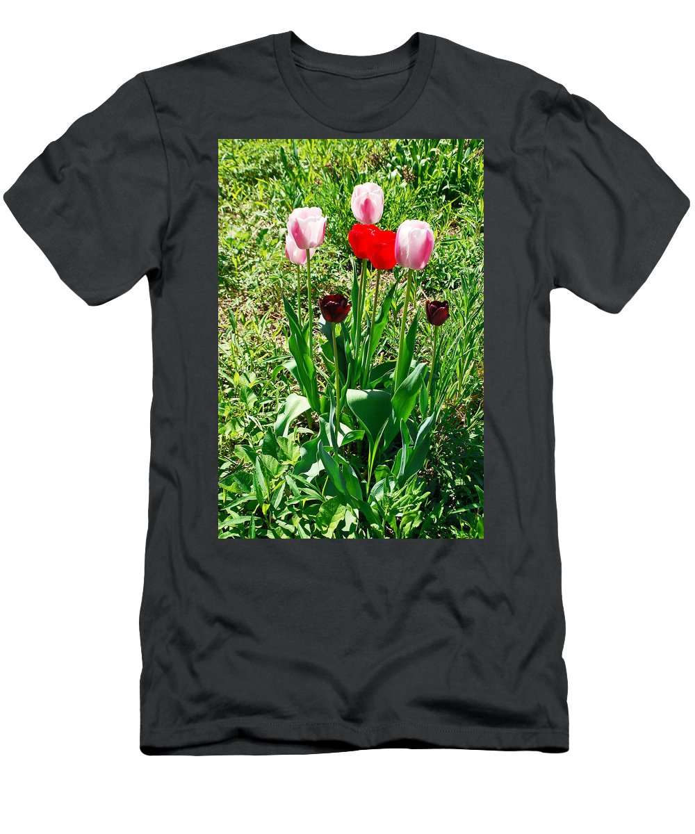 Tulip Men's T-Shirt (Athletic Fit) featuring the photograph Spring Tulips by Aimee L Maher ALM GALLERY