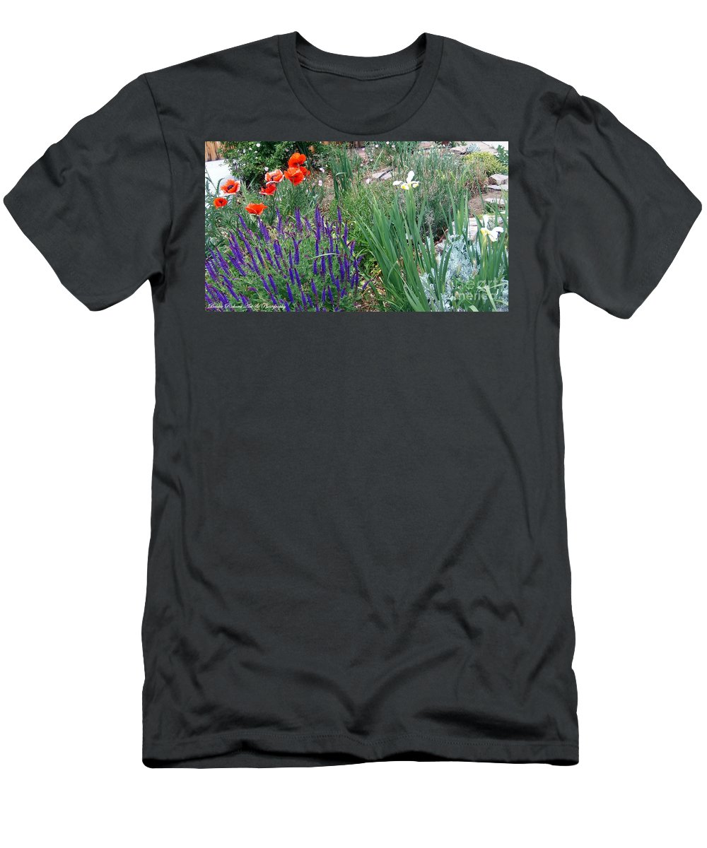 Flowers Men's T-Shirt (Athletic Fit) featuring the photograph Springtime by Bobbee Rickard