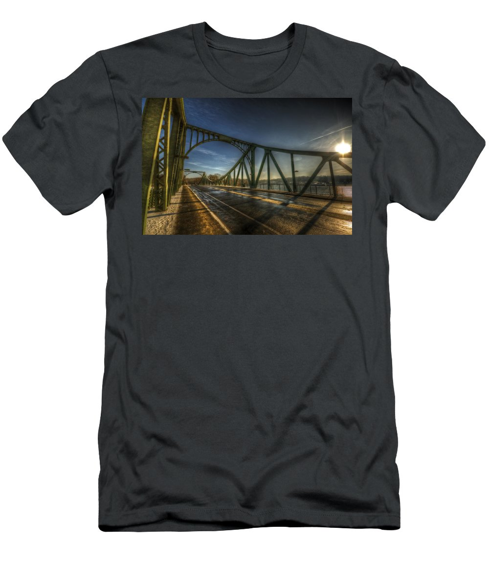 Agent Men's T-Shirt (Athletic Fit) featuring the digital art Spy Bridge by Nathan Wright