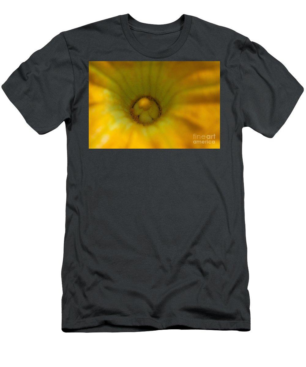 Squash Bloom Photograph Men's T-Shirt (Athletic Fit) featuring the photograph Squash Bloom by Mae Wertz