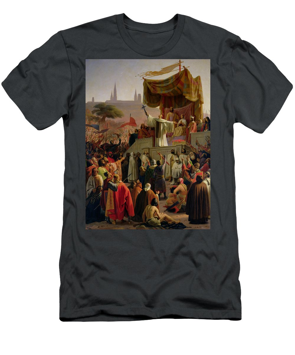 St Bernard Men's T-Shirt (Athletic Fit) featuring the painting St Bernard Preaching The Second Crusade In Vezelay by Emile Signol