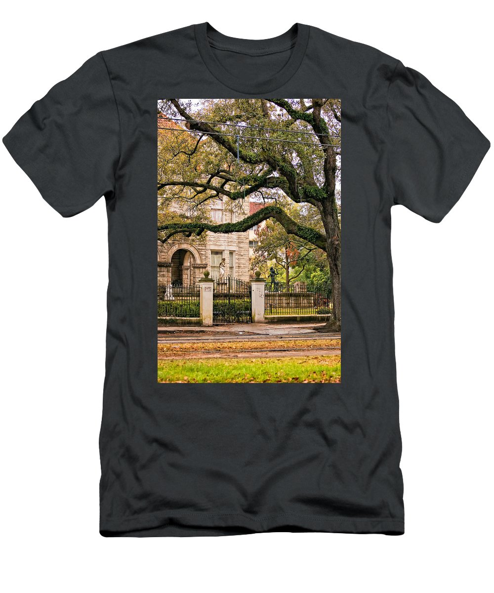 Home Men's T-Shirt (Athletic Fit) featuring the photograph St. Charles Ave. by Steve Harrington