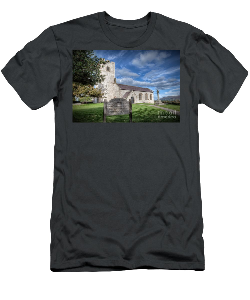 Architecture Men's T-Shirt (Athletic Fit) featuring the photograph St Marcella's Church by Adrian Evans