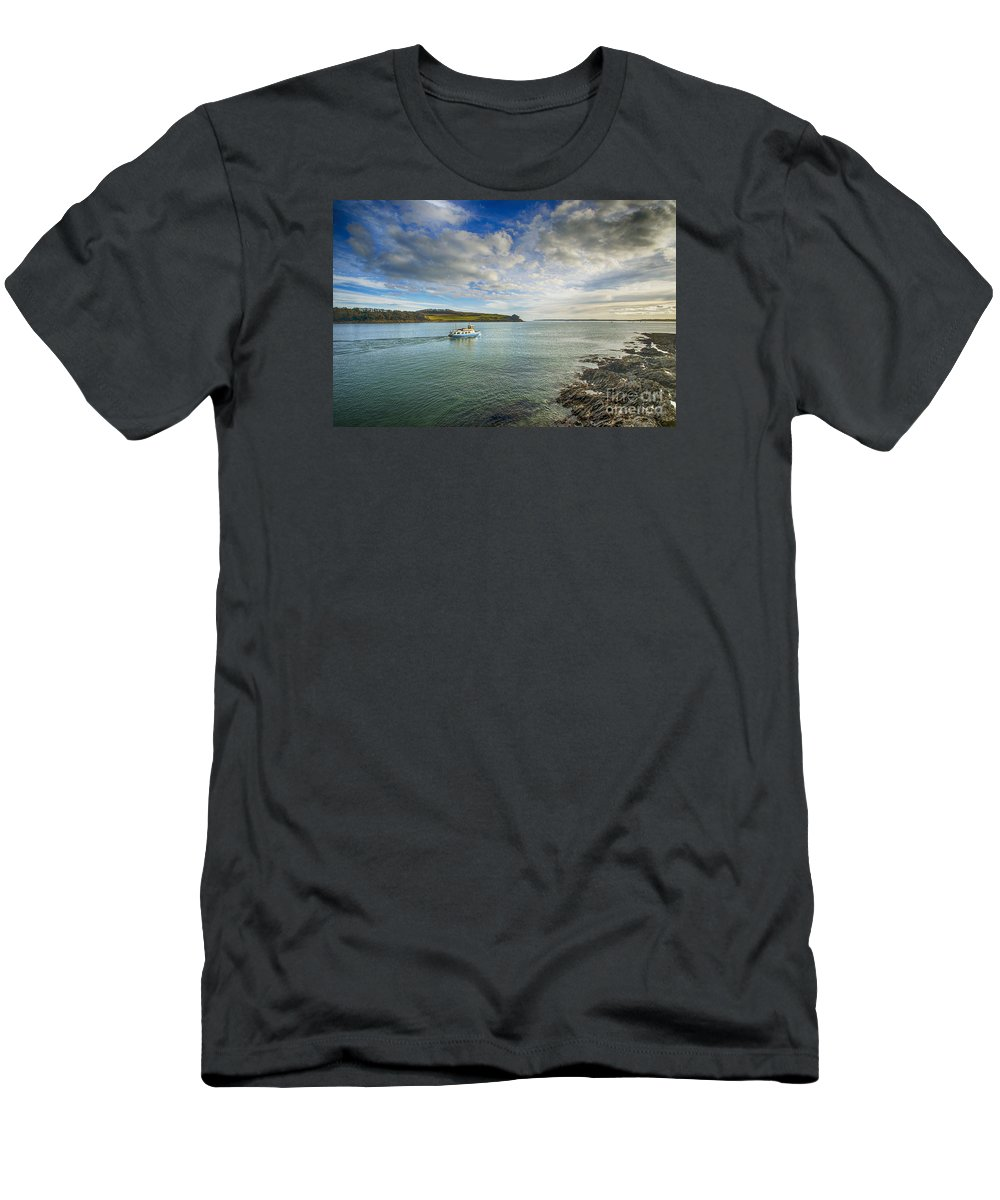 Cornwall Canvas Cornwall Prints Men's T-Shirt (Athletic Fit) featuring the photograph St Mawes Ferry Duchess Of Cornwall by Chris Thaxter