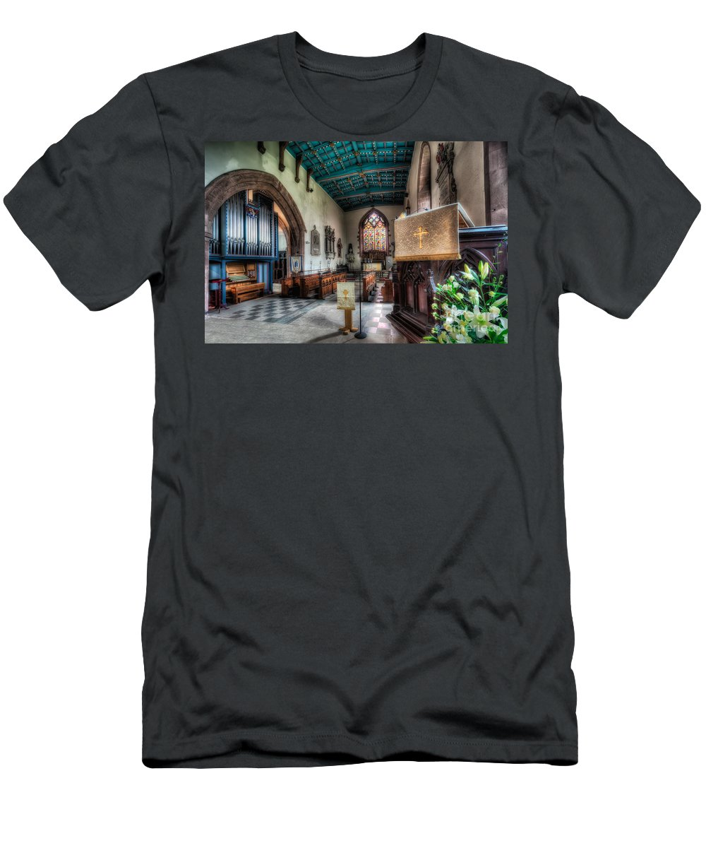 Arch Men's T-Shirt (Athletic Fit) featuring the photograph St Peter's Church by Adrian Evans