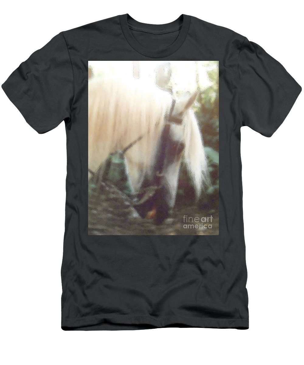 Horses Men's T-Shirt (Athletic Fit) featuring the photograph Stallion by Patricia Keller