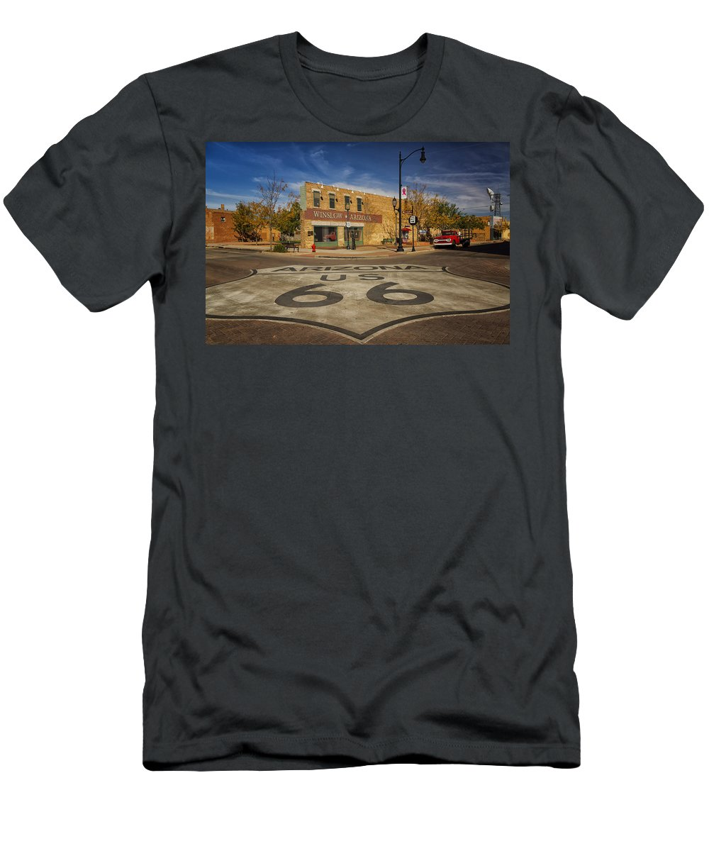 standing on the corner in winslow arizona dsc08854 t shirt for sale by greg kluempers. Black Bedroom Furniture Sets. Home Design Ideas