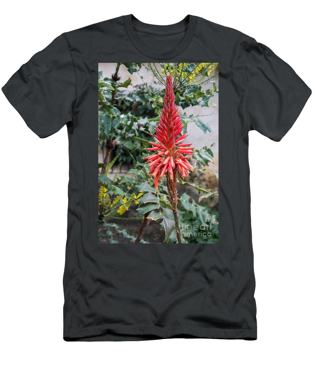 Flowers Men's T-Shirt (Athletic Fit) featuring the photograph Standing Tall by Suzanne Luft