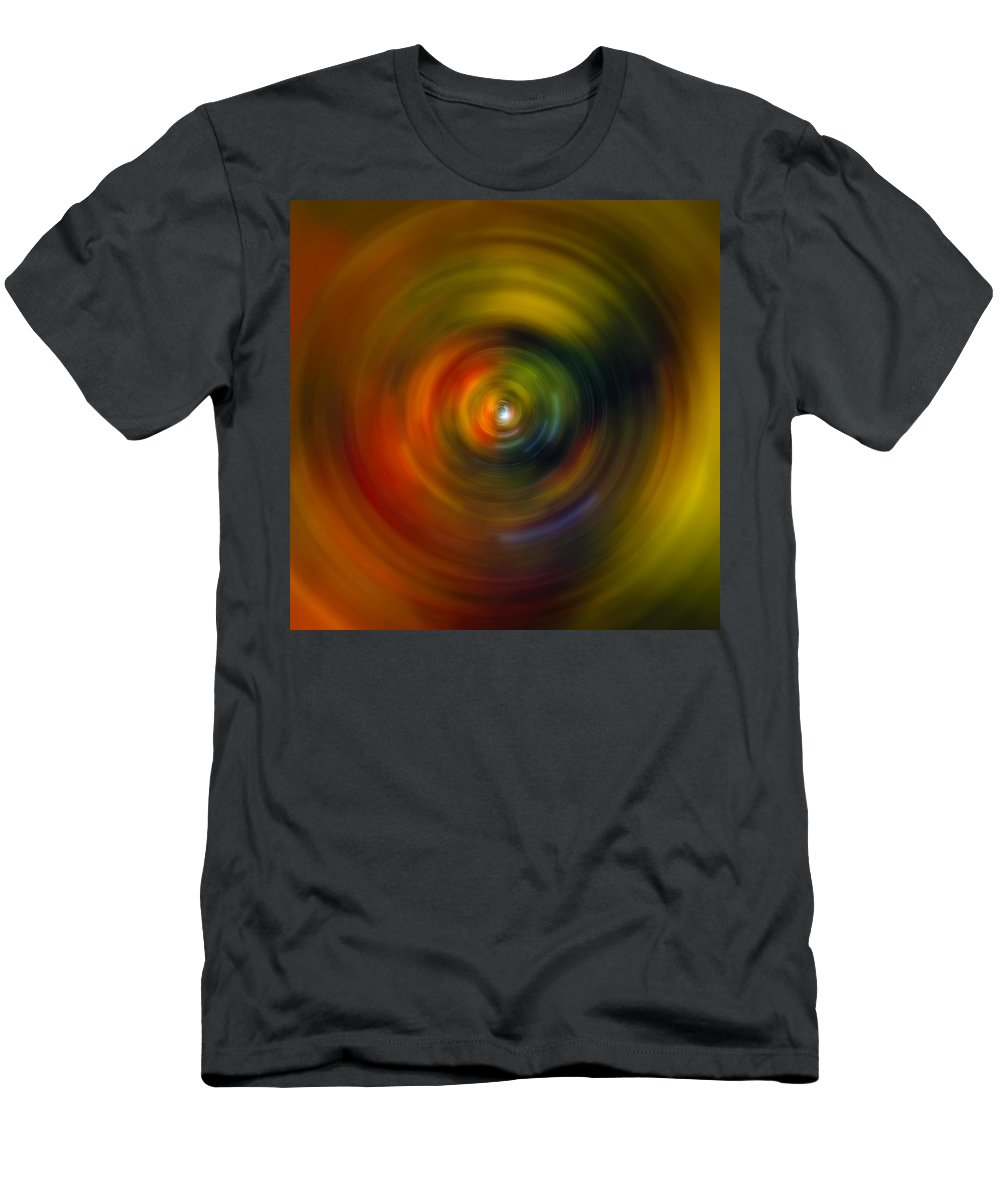 Universe Men's T-Shirt (Athletic Fit) featuring the photograph Star Cradle Spin Art by Jennifer Rondinelli Reilly - Fine Art Photography