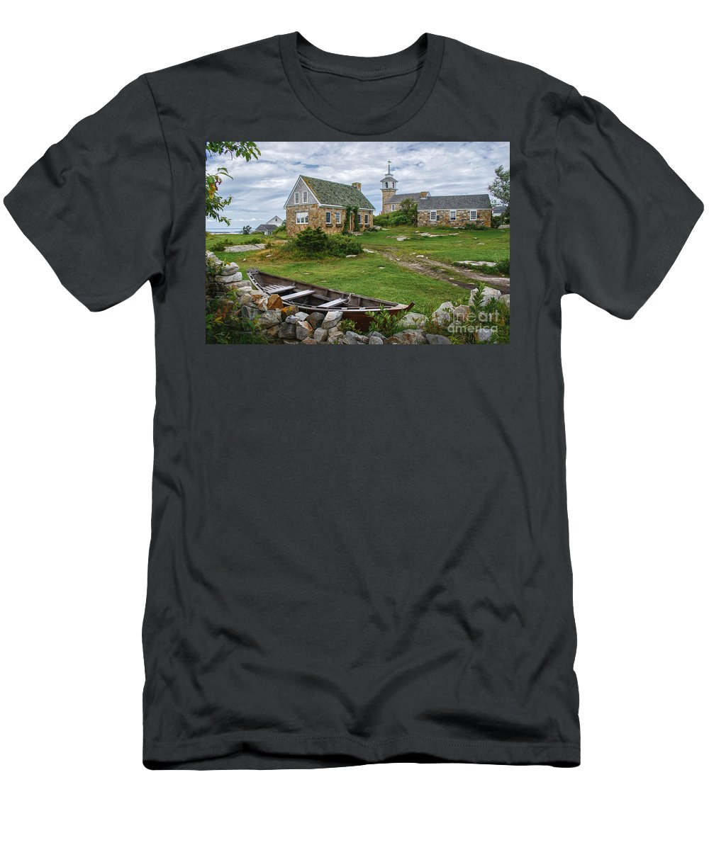 Portsmouth Nh Men's T-Shirt (Athletic Fit) featuring the photograph Star Island Dory by Scott Thorp